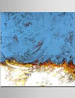 Недорогие -Hang-роспись маслом Ручная роспись - Абстракция Modern Нетканые