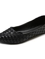 baratos -Mulheres Sapatos Confortáveis Couro Ecológico Outono Casual Rasos Sem Salto Preto / Marron