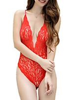 cheap -Women's Suits Nightwear - Lace / Mesh, Solid Colored / Jacquard