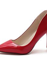 baratos -Mulheres Stiletto Couro Ecológico Outono Minimalismo Saltos Salto Agulha Dedo Apontado Vermelho / Rosa claro / Nú / Diário