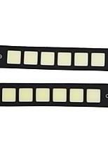 abordables -OTOLAMPARA 2pcs Aucune Automatique Ampoules électriques 10 W COB 800 lm 6 LED Feux de Circulation Diurnes Pour Volkswagen Jetta / CC / Universel 2018 / 2009 / 2010