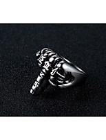 cheap -Men's Vintage Style Stylish Ring - Titanium Steel Totem Series, Creative Statement, Stylish, European 7 / 8 / 9 / 10 / 11 Silver For Street Club