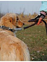 Недорогие -Собаки Ошейники / Поводки Компактность / Регулируется / Выдвижной / Складной Однотонный Искусственная кожа Коричневый