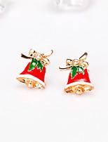 abordables -Femme Classique Boucles d'oreille goujon - Européen, Mode Rouge Pour Noël Quotidien