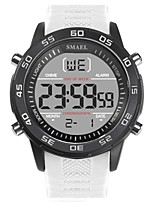 Недорогие -SMAEL Муж. Спортивные часы Японский Цифровой 50 m Защита от влаги Календарь Фосфоресцирующий силиконовый Группа Цифровой Мода Черный / Белый - Черный Черный / Белый
