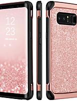 Недорогие -Кейс для Назначение SSamsung Galaxy Note 8 Защита от удара / Покрытие / Сияние и блеск Кейс на заднюю панель Сияние и блеск Твердый ТПУ / ПК для Note 8