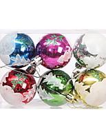 baratos -Ornamentos Natal Plástico / PVC Redonda Desenho Animado Decoração de Natal