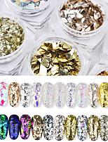 billiga -1 pcs Glitter Paljetter Ministil / Färgskiftande / Bästa kvalitet Romantisk serie Regnbåge nagel konst manikyr Pedikyr Jul / Halloween / Bal Artistisk / Ljuv