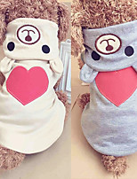 cheap -Dogs / Cats Hoodie / Jumpsuit Dog Clothes Heart / Character Beige / Gray Fabric Costume For Pets Female One Piece