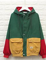 baratos -Mulheres Jaqueta Básico - Estampa Colorida