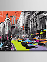 cheap -Print Rolled Canvas Prints / Stretched Canvas Prints - Architecture / Pop Art Modern