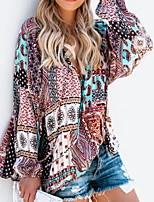 Недорогие -Жен. На выход / Пляж Блуза Классический Контрастных цветов