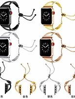 Недорогие -Ремешок для часов для Apple Watch Series 4/3/2/1 Apple Спортивный ремешок / Классическая застежка Нержавеющая сталь Повязка на запястье
