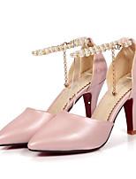 baratos -Mulheres Stiletto Couro Ecológico Outono Saltos Salto Agulha Bege / Vermelho / Rosa claro