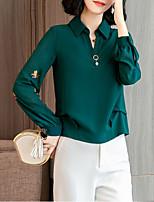 Недорогие -Жен. Офис Блуза V-образный вырез Цветочный принт