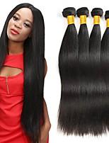 Недорогие -4 Связки Индийские волосы / Вьетнамские волосы Прямой Натуральные волосы / Необработанные натуральные волосы Подарки / Косплей Костюмы / Человека ткет Волосы 8-28 дюймовый Естественный цвет