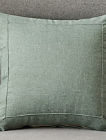 cheap -1 pcs Cotton / Linen Pillow Cover, Solid Colored Modern Style / Casual