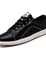 Недорогие -Муж. Комфортная обувь Искусственная кожа Осень На каждый день Кеды Дышащий Белый / Черный / Красный / на открытом воздухе