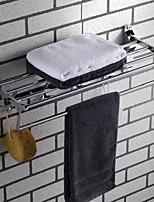 Недорогие -Держатель для полотенец / Полка для ванной Новый дизайн Современный Нержавеющая сталь 1шт 4-полосная доска На стену