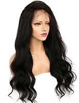 Недорогие -Натуральные волосы Полностью ленточные Парик Бразильские волосы / Бирманские волосы Естественные кудри Парик 130% Женский / Легко туалетный / Лучшее качество Нейтральный Жен. Длинные