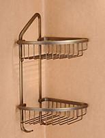 baratos -Prateleira de Banheiro Novo Design / Multifunções Moderna Latão 1pç Montagem de Parede