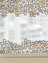 Недорогие -Оконная пленка и наклейки Украшение Обычные Цветы ПВХ Стикер на окна
