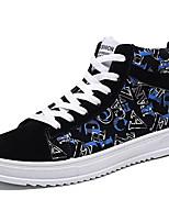 Недорогие -Муж. Комфортная обувь Полиуретан Осень На каждый день Кеды Нескользкий Черно-белый / Черный / Красный / Черный / синий