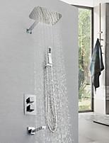 abordables -Robinet de douche - Moderne Chrome Montage mural Soupape en laiton