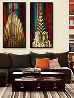 cheap -Framed Canvas / Framed Set - Landscape / Scenic Plastic Illustration