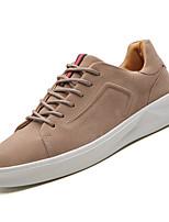 Недорогие -Муж. Комфортная обувь Полиуретан Осень На каждый день Кеды Дышащий Белый / Черный / Коричневый