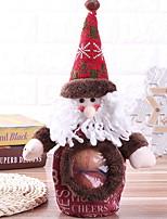 baratos -Sacos de Presentes / Enfeites de Natal Férias Tecido de Algodão Cubo Novidades Decoração de Natal