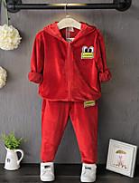 Недорогие -Дети / Дети (1-4 лет) Девочки Мультипликация Длинный рукав Набор одежды