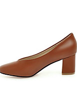 abordables -Femme Chaussures de confort Polyuréthane Printemps Chaussures à Talons Talon Bottier Noir / Marron / Rose