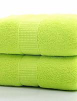 abordables -Qualité supérieure Serviette, Couleur Pleine / Géométrique Pur coton Salle de  Bain 1 pcs