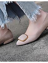 Недорогие -Жен. Комфортная обувь Замша Весна Обувь на каблуках На толстом каблуке Черный / Миндальный