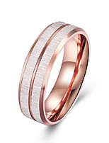 cheap -Men's Classic Stylish Band Ring - Titanium Steel Creative Classic, Basic 9 / 10 Rose Gold For Daily Work