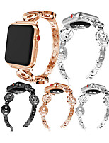 abordables -Bracelet de Montre  pour Apple Watch Series 4/3/2/1 Apple Boucle Moderne / Design de bijoux Métallique Sangle de Poignet