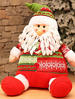 baratos -Enfeites de Natal Natal Tecido Quadrada Festa Decoração de Natal