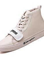 Недорогие -Муж. Комфортная обувь Полиуретан Осень На каждый день Кеды Нескользкий Белый / Черный / Бежевый