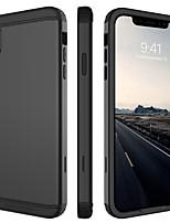 Недорогие -Кейс для Назначение Apple iPhone XR / iPhone XS Max Защита от удара Чехол Однотонный Твердый ТПУ / ПК для iPhone XR / iPhone XS Max