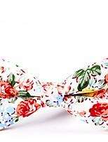 baratos -Unisexo Festa / Básico Gravata Borboleta - Laço Floral / Estampa Colorida
