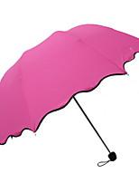 Недорогие -пластик Все Солнечный и дождливой Складные зонты
