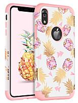 Недорогие -Кейс для Назначение Apple iPhone XR / iPhone XS Max Защита от удара / Ультратонкий / С узором Кейс на заднюю панель Фрукты / Цветы Твердый ПК / силикагель для iPhone XR / iPhone XS Max