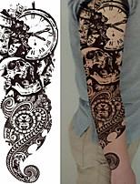 abordables -3 pcs Tatouages temporaires Séries de totem / Séries de fleur Autocollant Lisse / Economique / Jetable Arts du Corps Caisse / bras / Jambe / Tatouages temporaires de style décalque