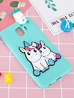 cheap -Case For Samsung Galaxy J6 / J4 Pattern / DIY Back Cover Unicorn Soft TPU for J7 (2017) / J7 (2016) / J6