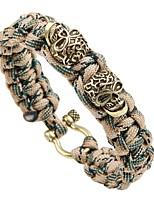 abordables -Homme Tressé Loom Bracelet - Crâne Rétro, Punk Bracelet Or / Argent / Or Rose Pour Plein Air Soirée