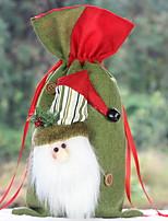 Недорогие -Орнаменты Новогодняя тематика Ткань Прямоугольный Оригинальные Рождественские украшения