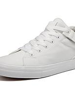 Недорогие -Муж. Вулканизованная обувь Полиуретан Осень На каждый день Кеды Дышащий Белый / Черный