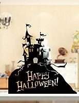 Недорогие -Оконная пленка и наклейки Украшение Хэллоуин Праздник ПВХ Стикер на окна