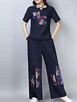 cheap -Women's Set - Floral Pant
